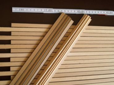 Boat Deck-strips Alder/Smoked Oak, 3,0 x500 x 10/12 mm